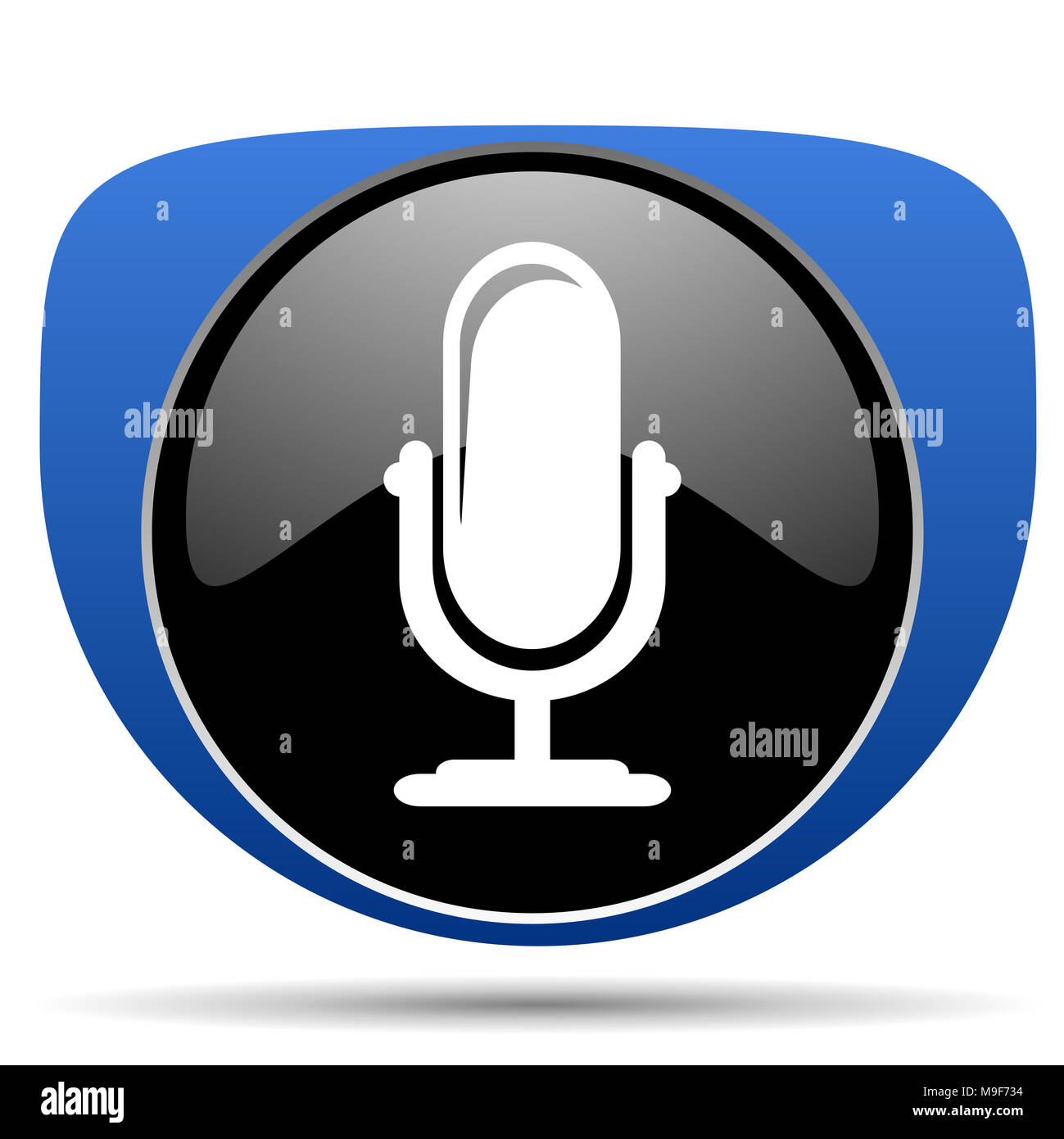 Microphone web icon - Stock Image