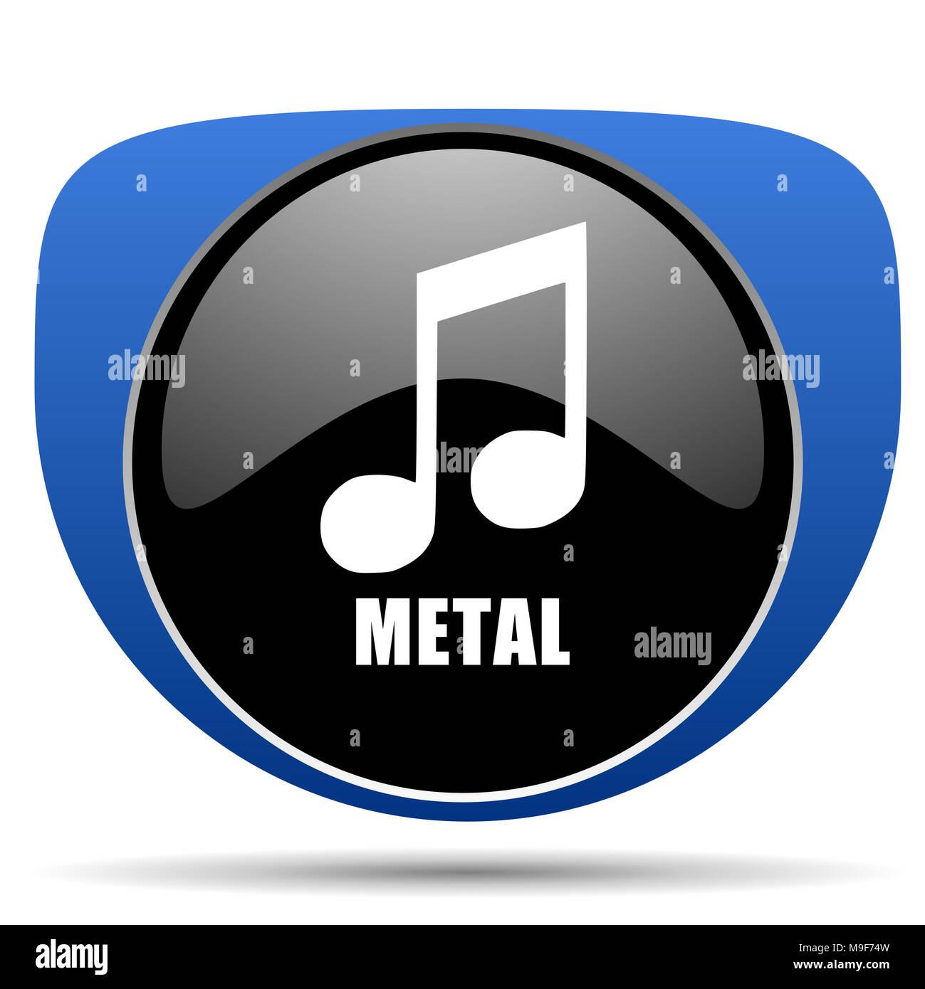 Metal music web icon - Stock Image