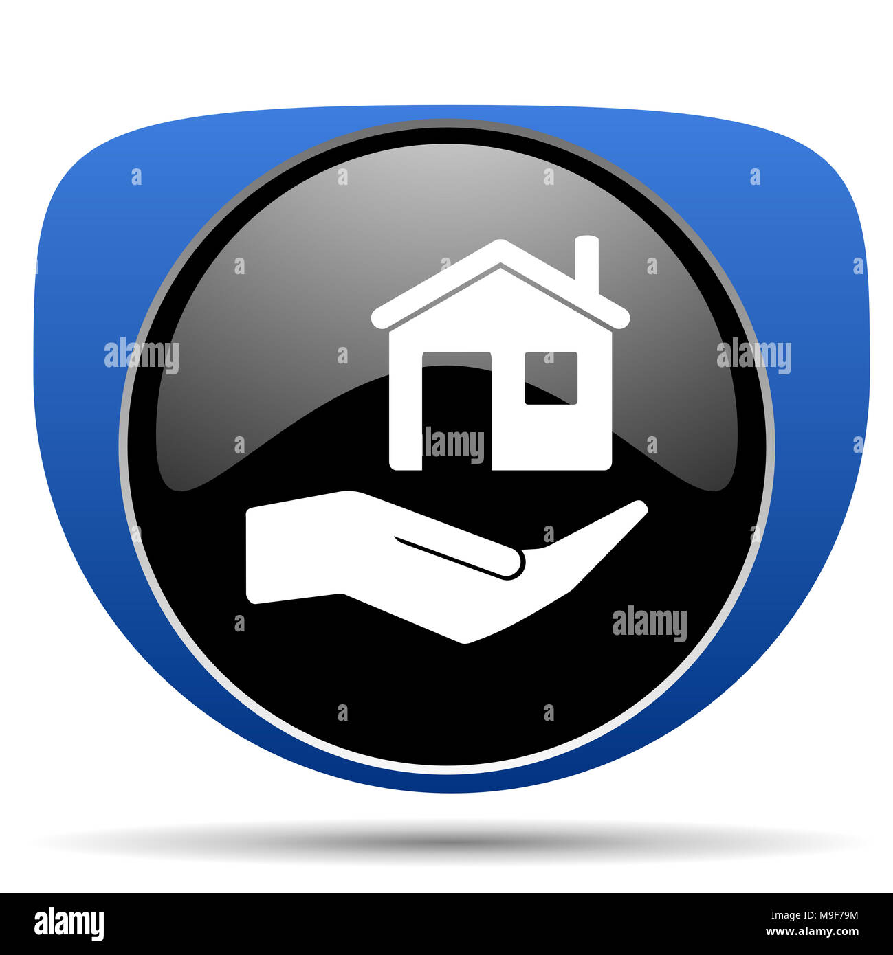 House care web icon - Stock Image