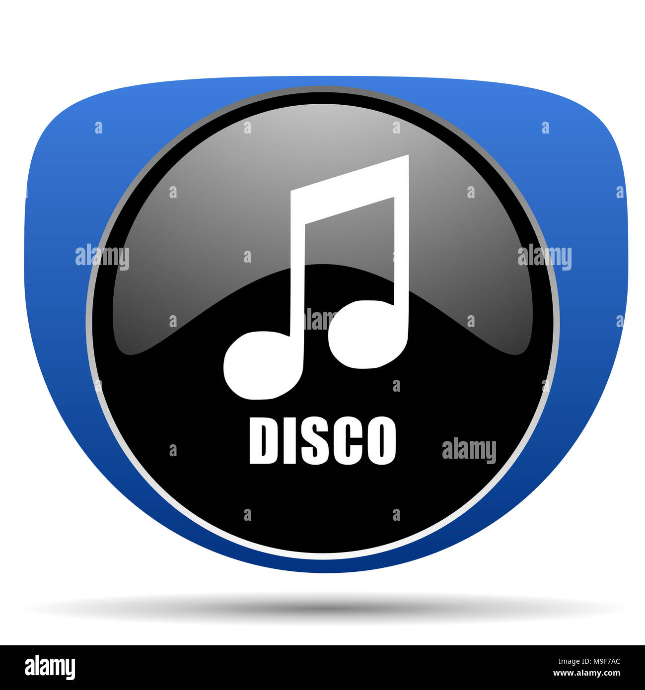 Disco music web icon - Stock Image