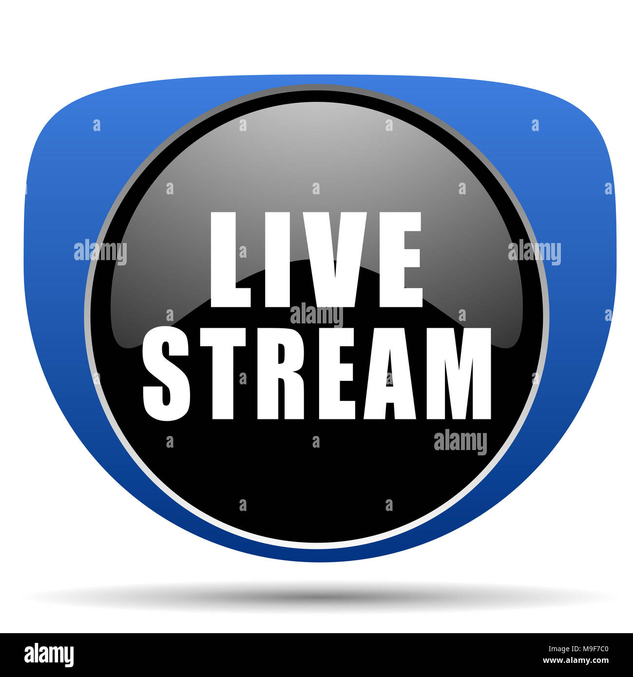 Live stream web icon - Stock Image