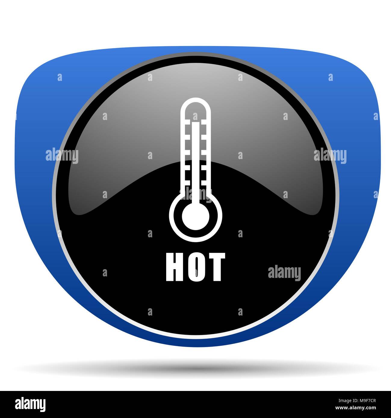 Hot temperature web icon - Stock Image