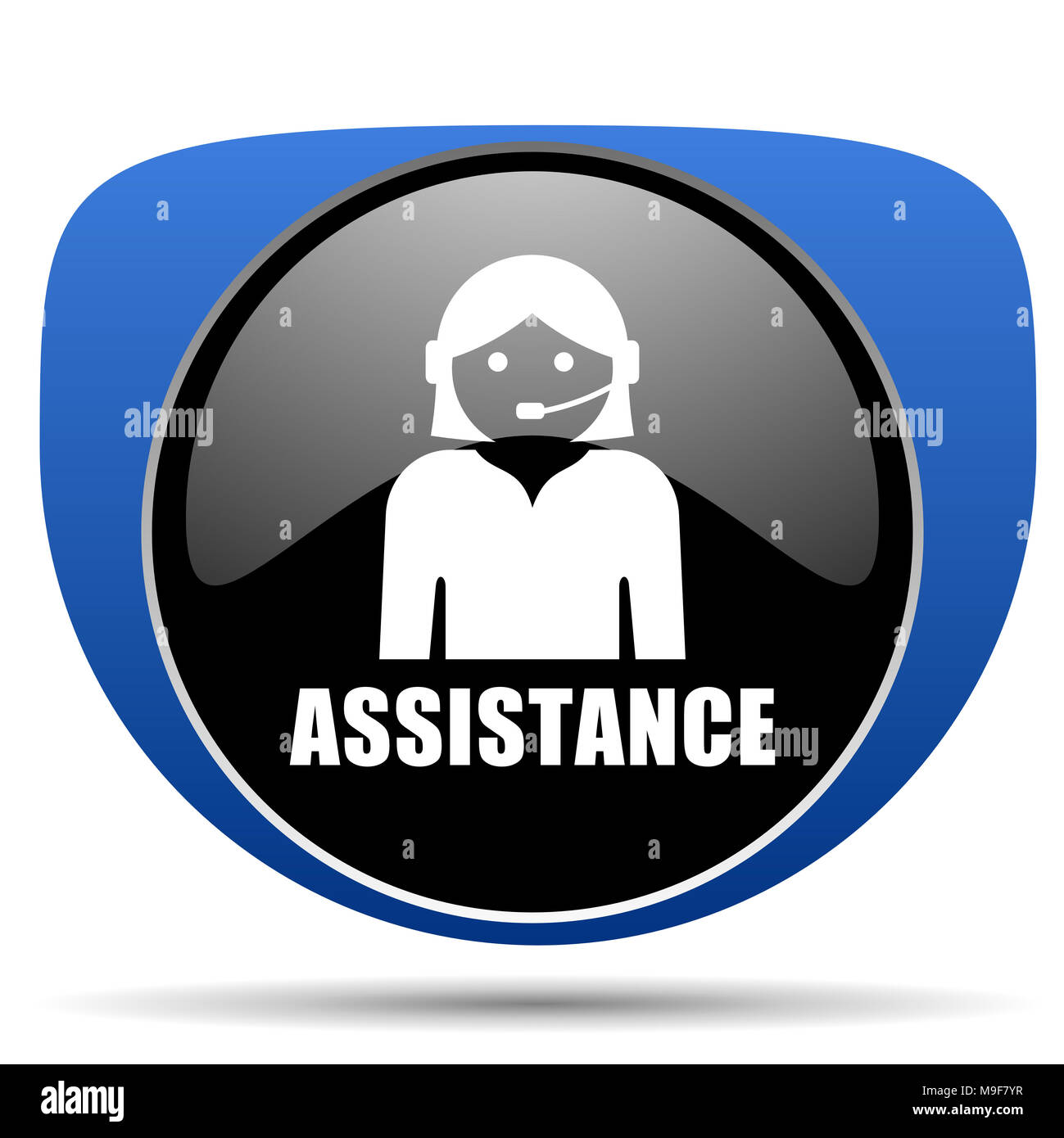 Assistance web icon Stock Photo