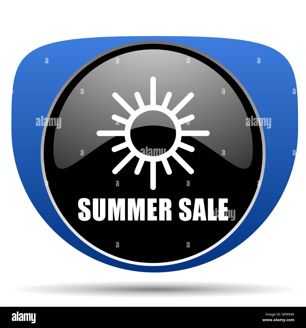 Summer sale web icon - Stock Image