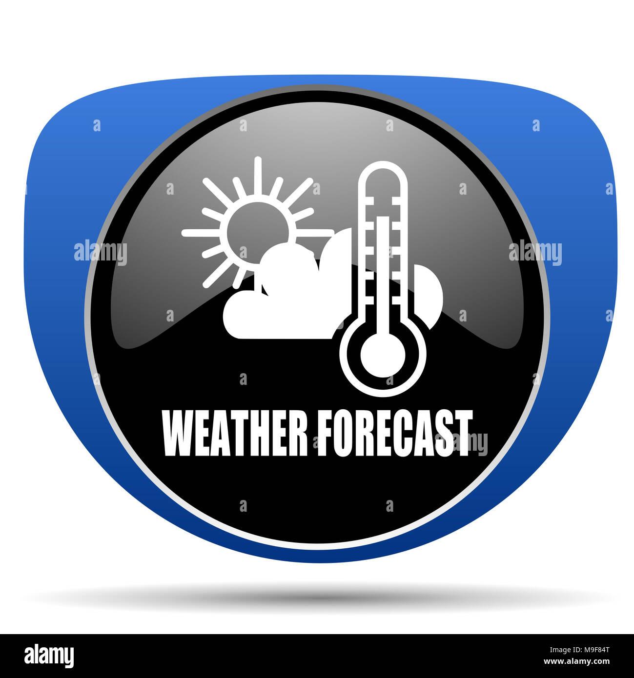 Weather forecast web icon - Stock Image