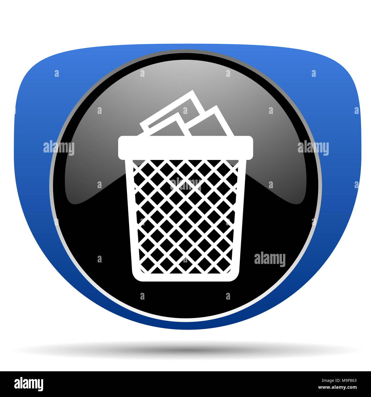Trash can web icon - Stock Image
