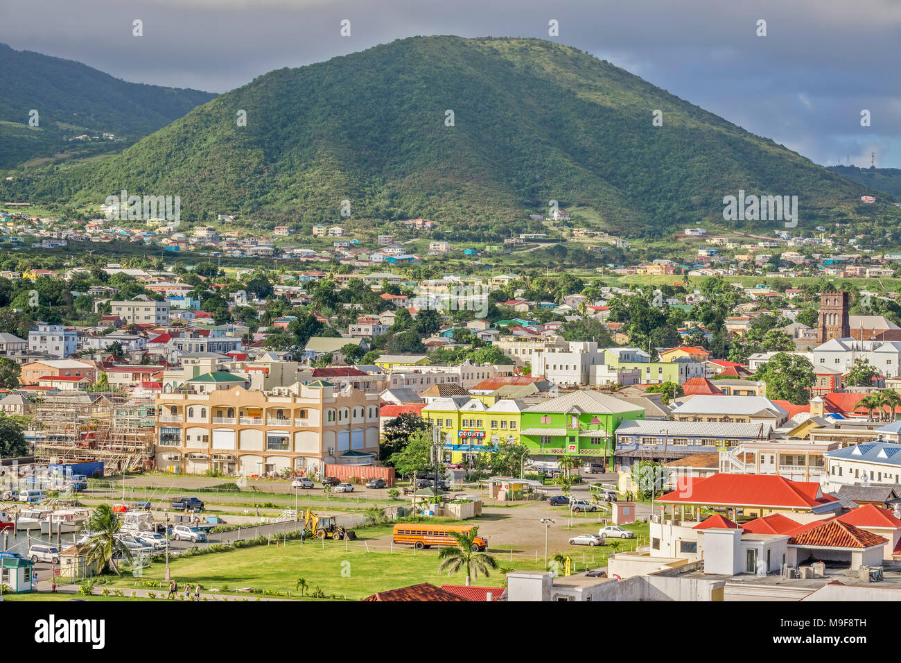 Basseterre,  St. Kitts, West Indies - Stock Image