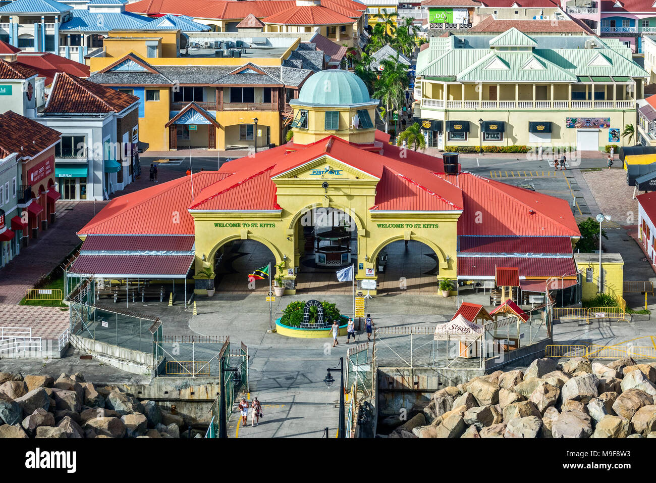 The Port Of Zante Basseterre,  St. Kitts, West Indies - Stock Image
