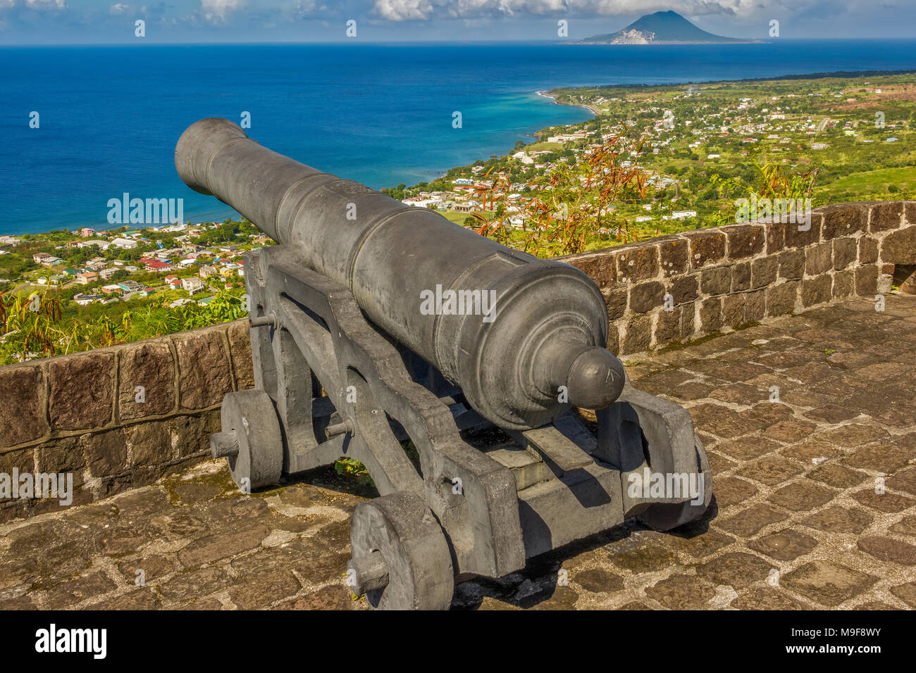 Old British Fortress At Brimstone Hill St. Kitts West Indies - Stock Image