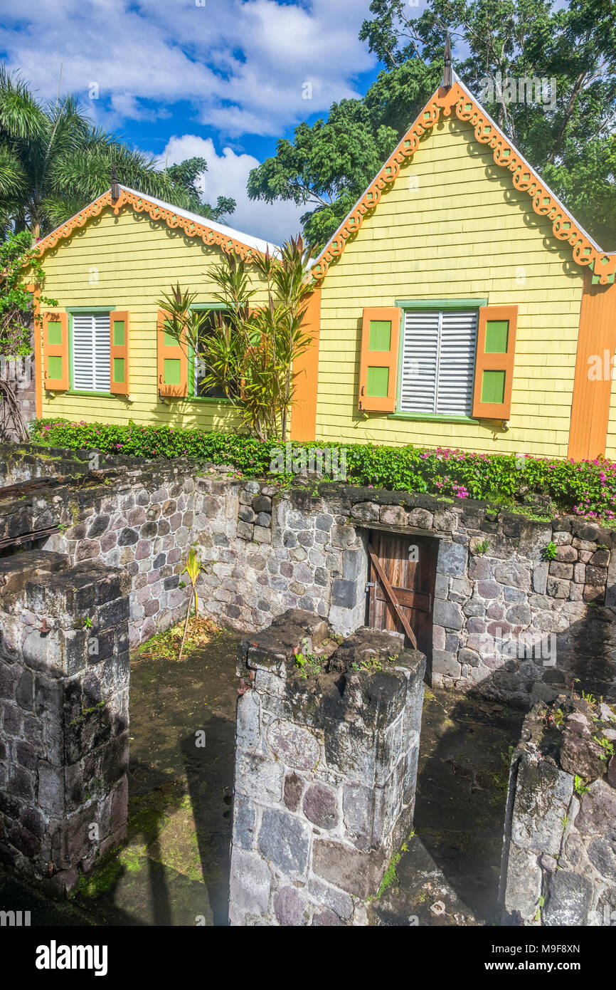 Romney Manor St. Kitts West Indies - Stock Image
