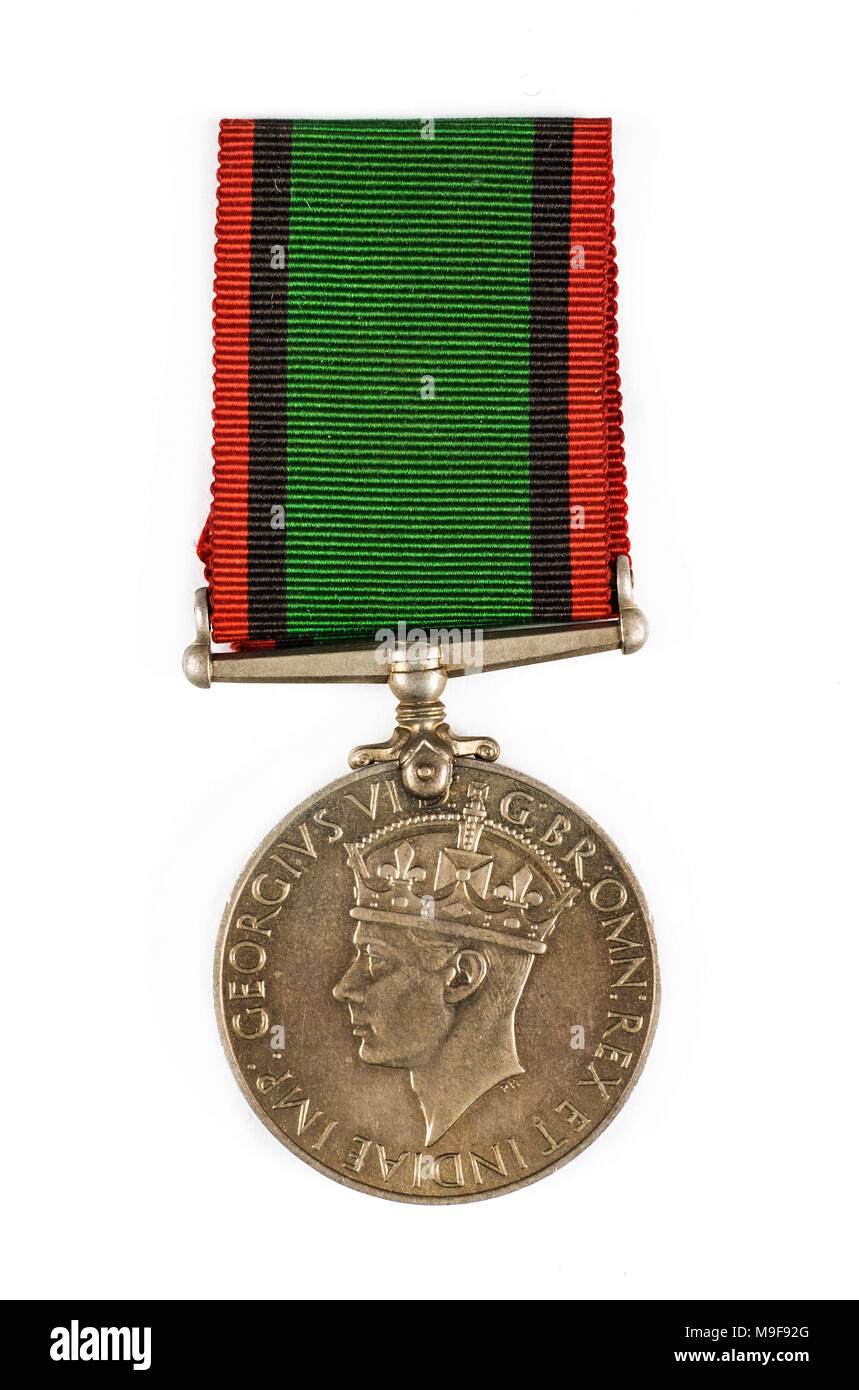 Southern Rhodesia Medal for War Service 1939-1945. It is a British Campaign Medal awarded to members of the Southern Rhodesia Defence Forces. Stock Photo