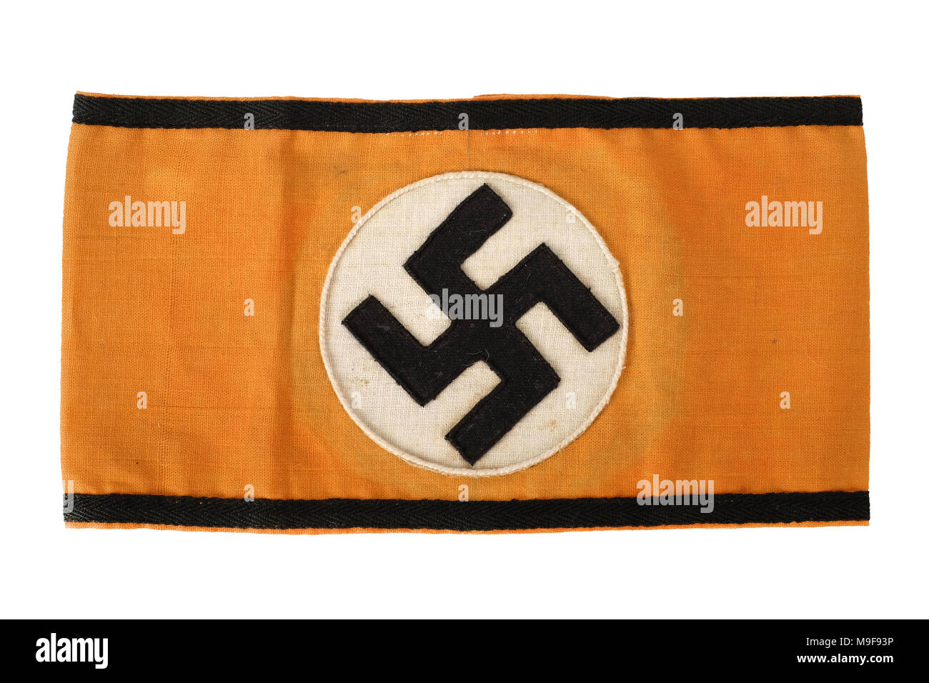 Nazi swastika stock photos nazi swastika stock images page 2 alamy ww2 german third reich authentic nazi party armband featuring the swastika on an orange background biocorpaavc Image collections