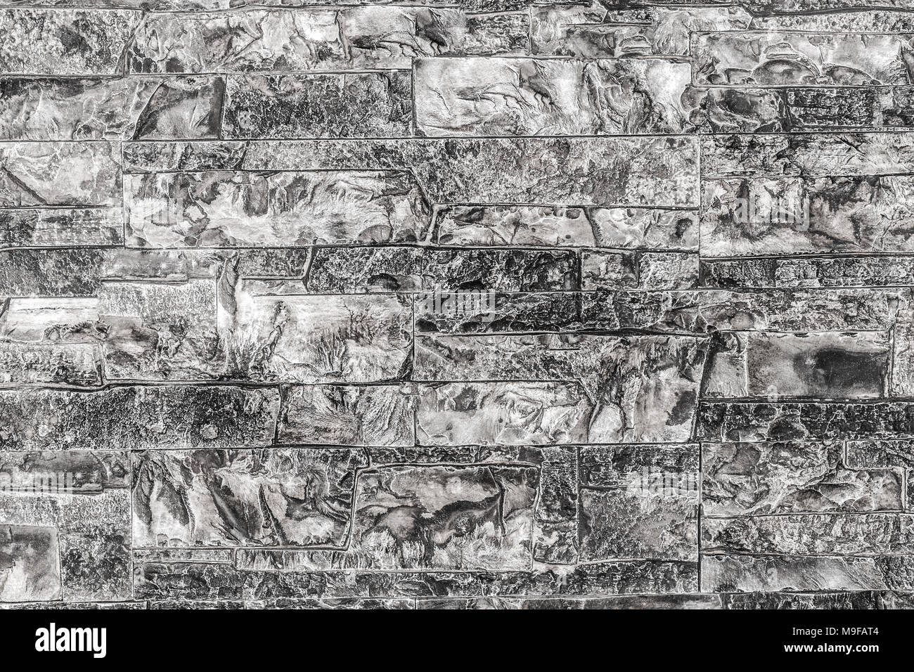 A Pattern Of Many Decorative Stones Background Black And White