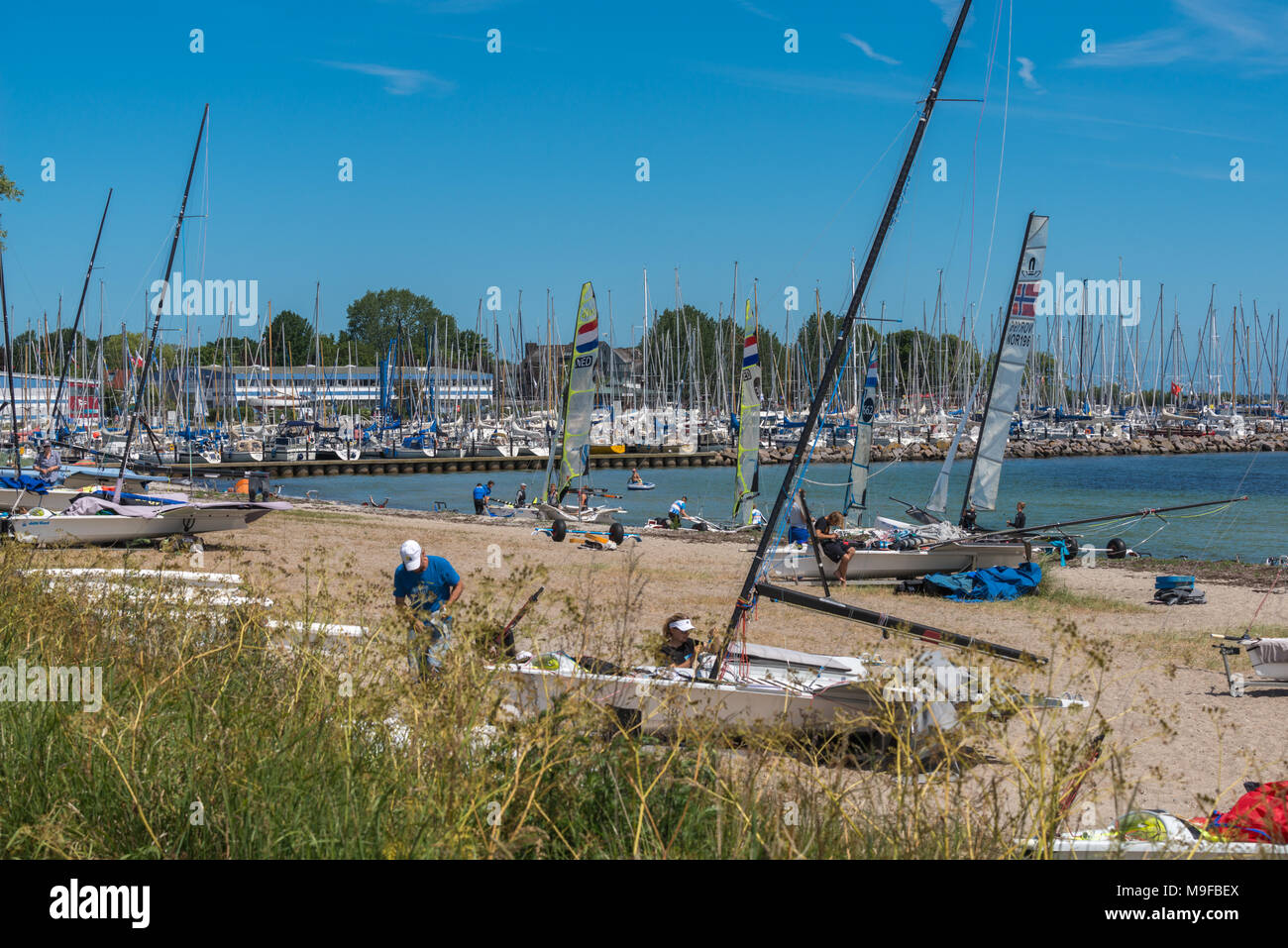 Kieler Woche, Kiel-Schilksee - Stock Image