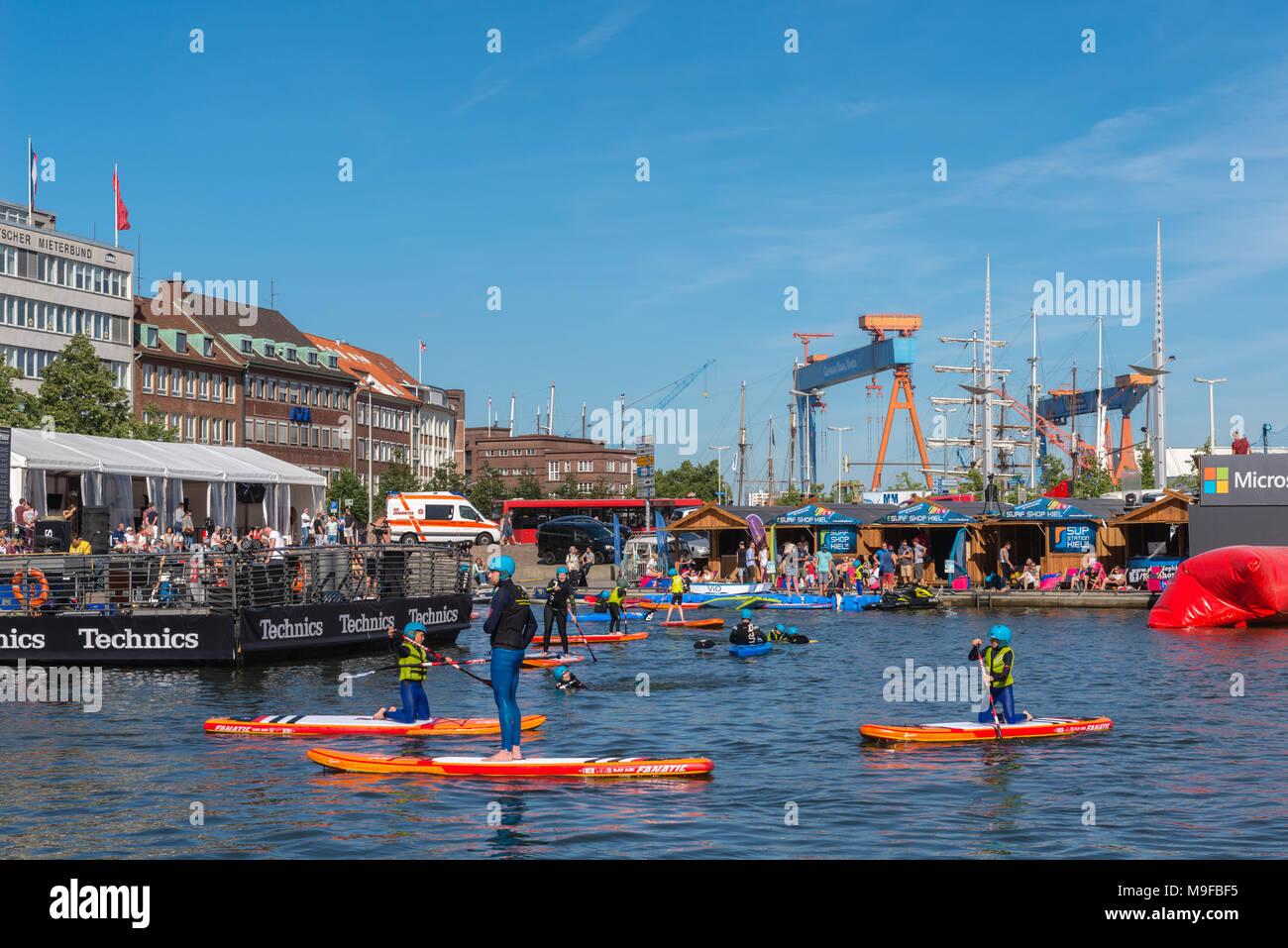 Bootshafen Kieler Woche Stock Photo