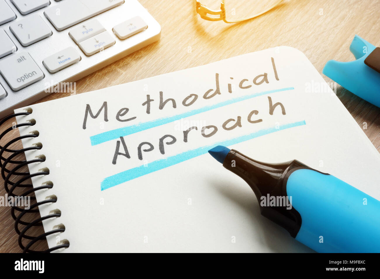 Methodical Approach written on a page of the note. - Stock Image