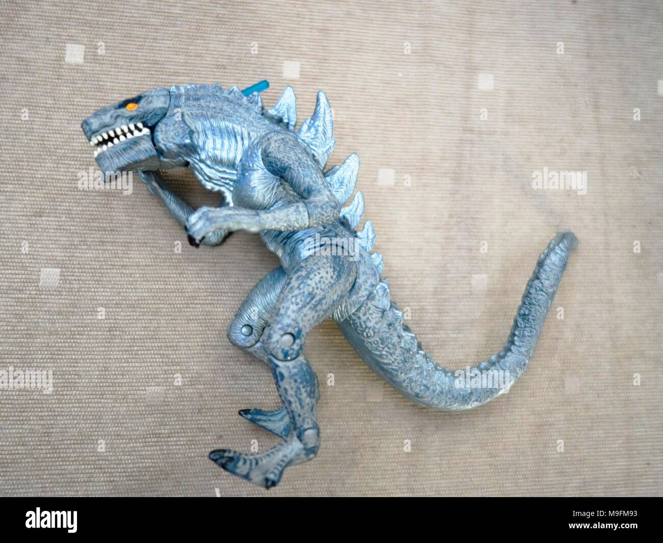 90s trendmasters Godzilla figure - Stock Image