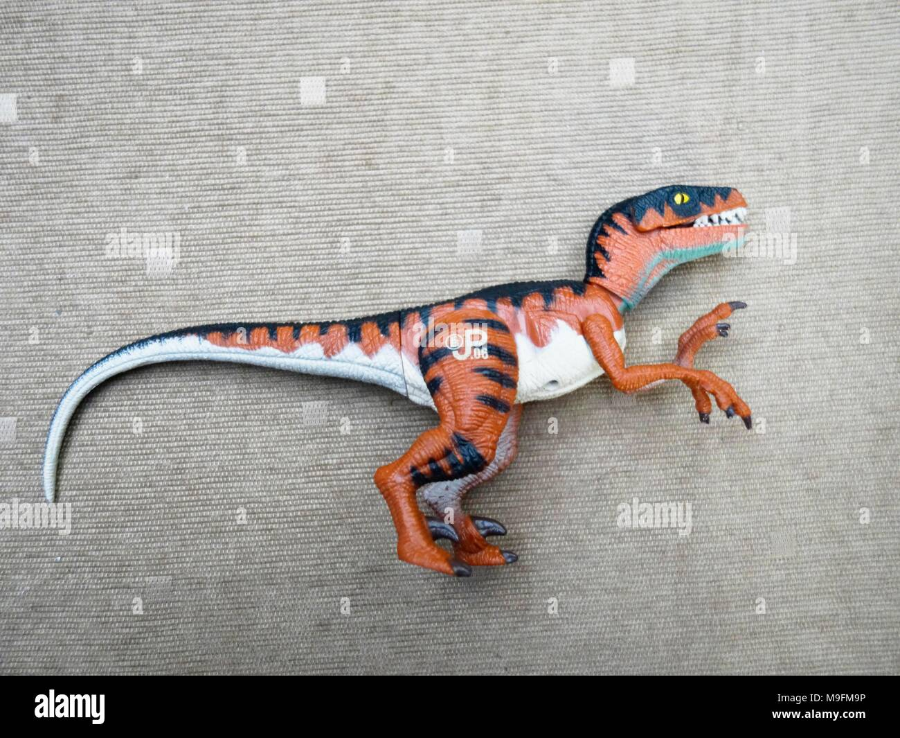 Jurassic Park action figure from Kenner - Stock Image