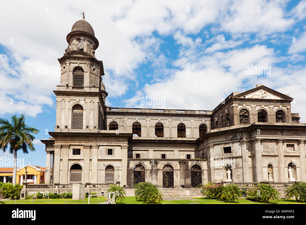 Old Cathedral of Managua. Managua, Nicaragua. Stock Photo