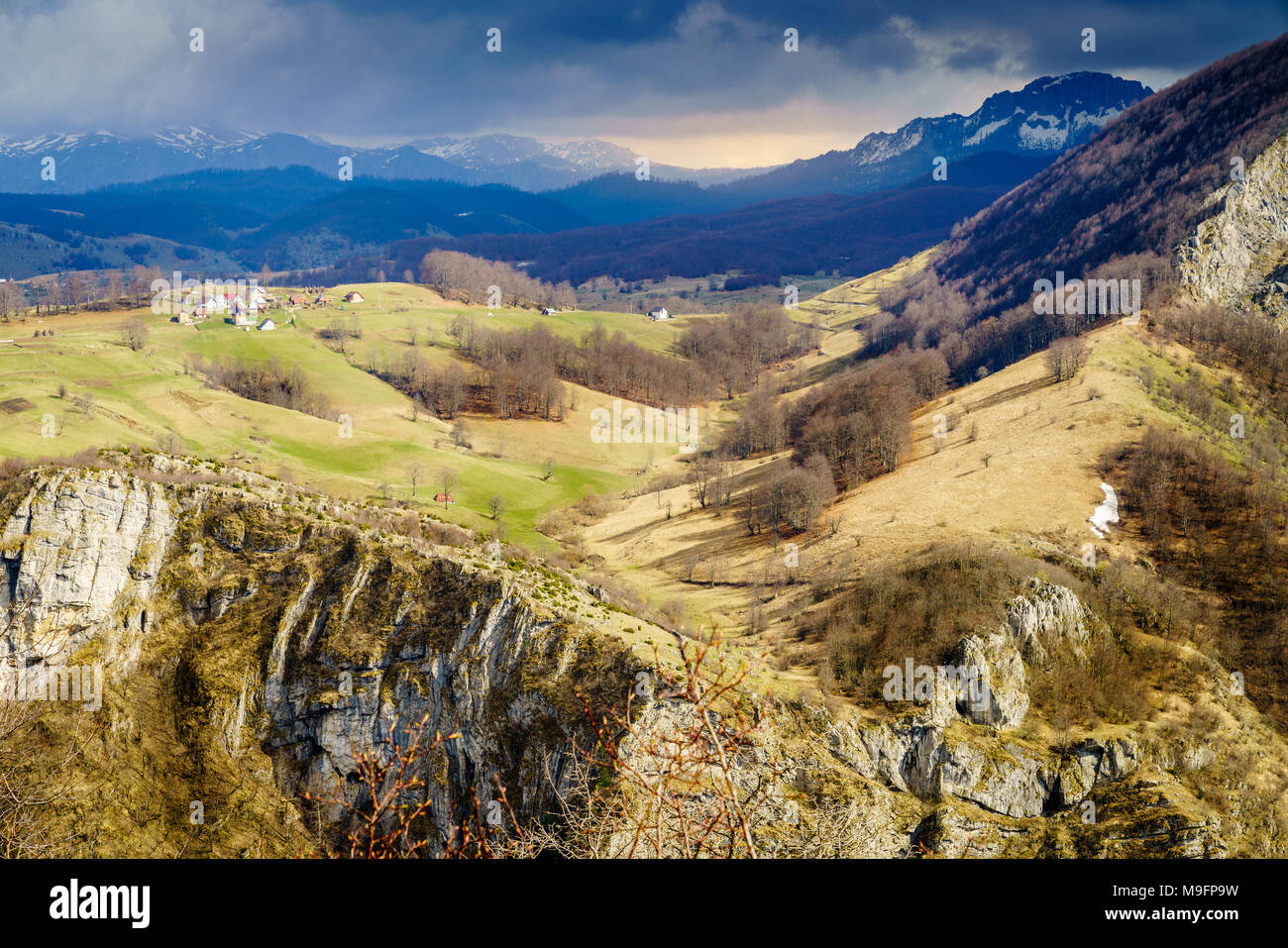 Scenic view of Dinaric Alps in Bosnia-Herzegovina near Sarajevo Stock Photo