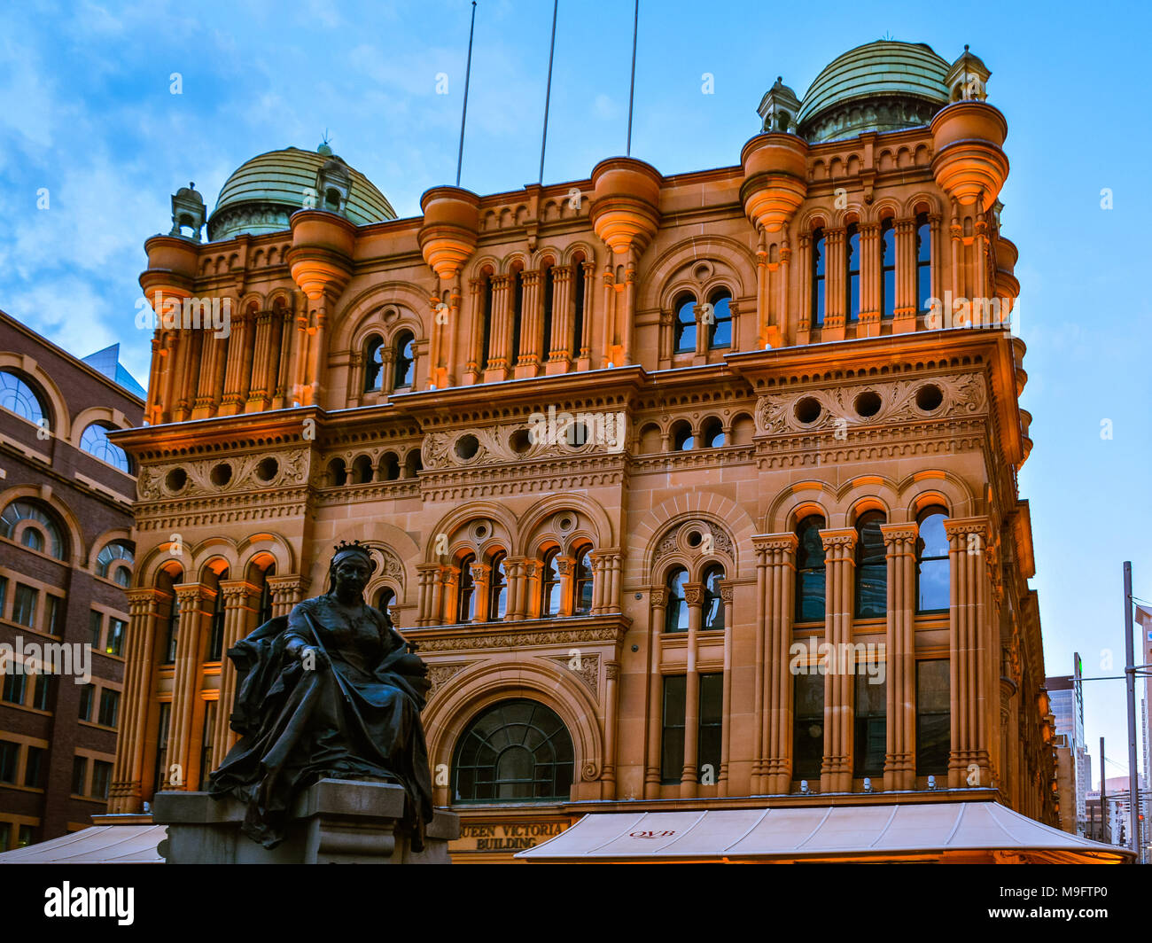 Queen Victoria Building - a late nineteenth-century building located in the central business district of Sydney, Australia. - Stock Image