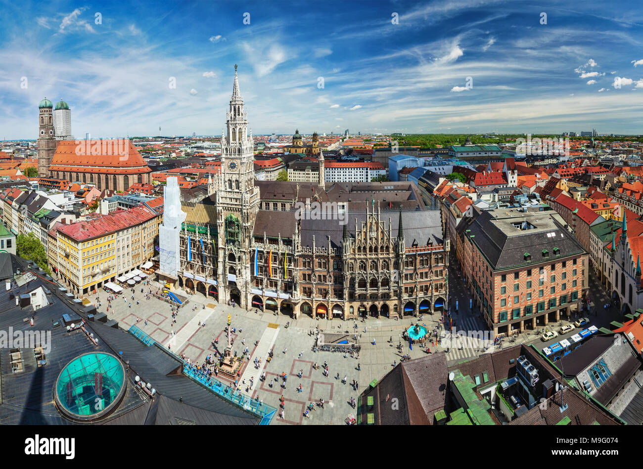 Aerial view of Munich, Germany - Stock Image