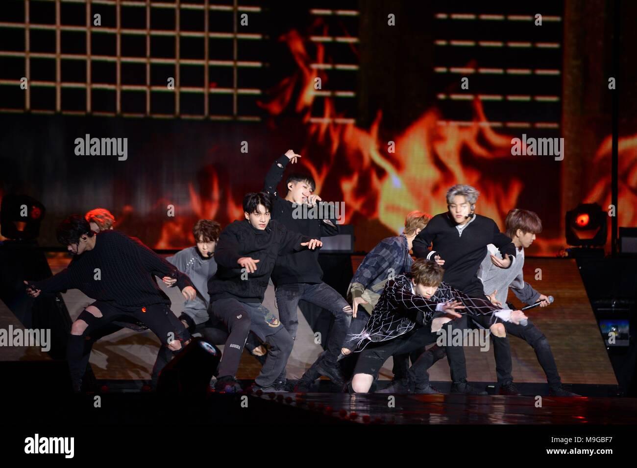 JYP new idol group Stray Kids hold debut showcase in Seoul