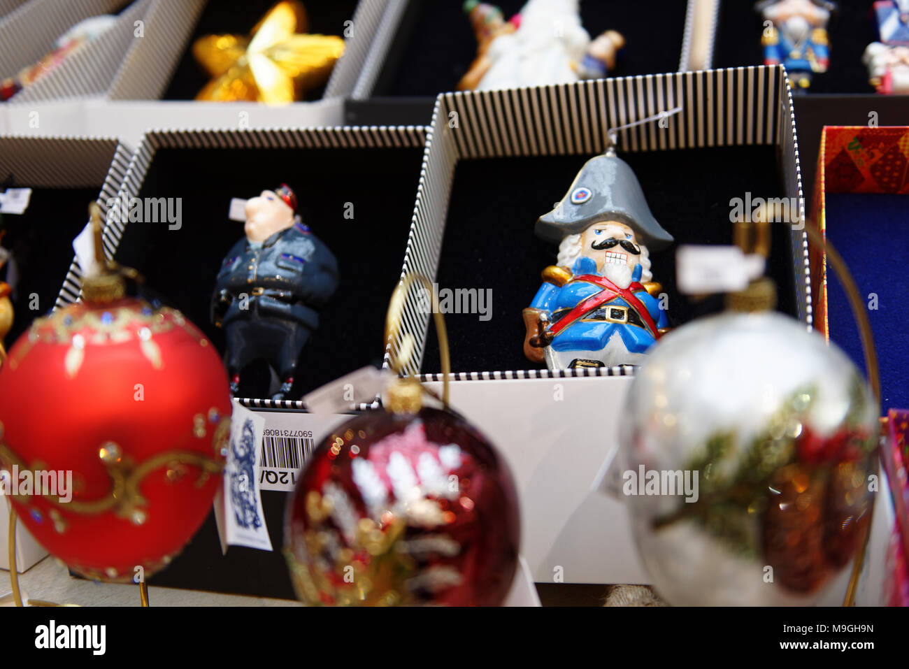 Moscow Russia - November 27 2015 Christmas gifts in the GUM. The traditional Christmas fair this year is inspired by memories about 1960s & Moscow Russia - November 27 2015: Christmas gifts in the GUM. The ...