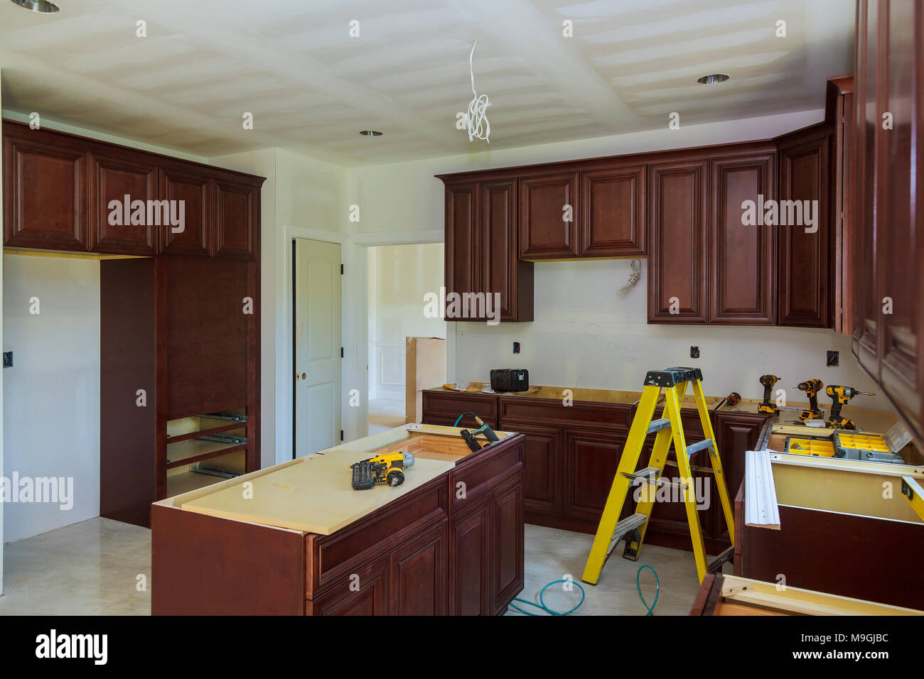 Installing New Induction Hob In Modern Installation Of
