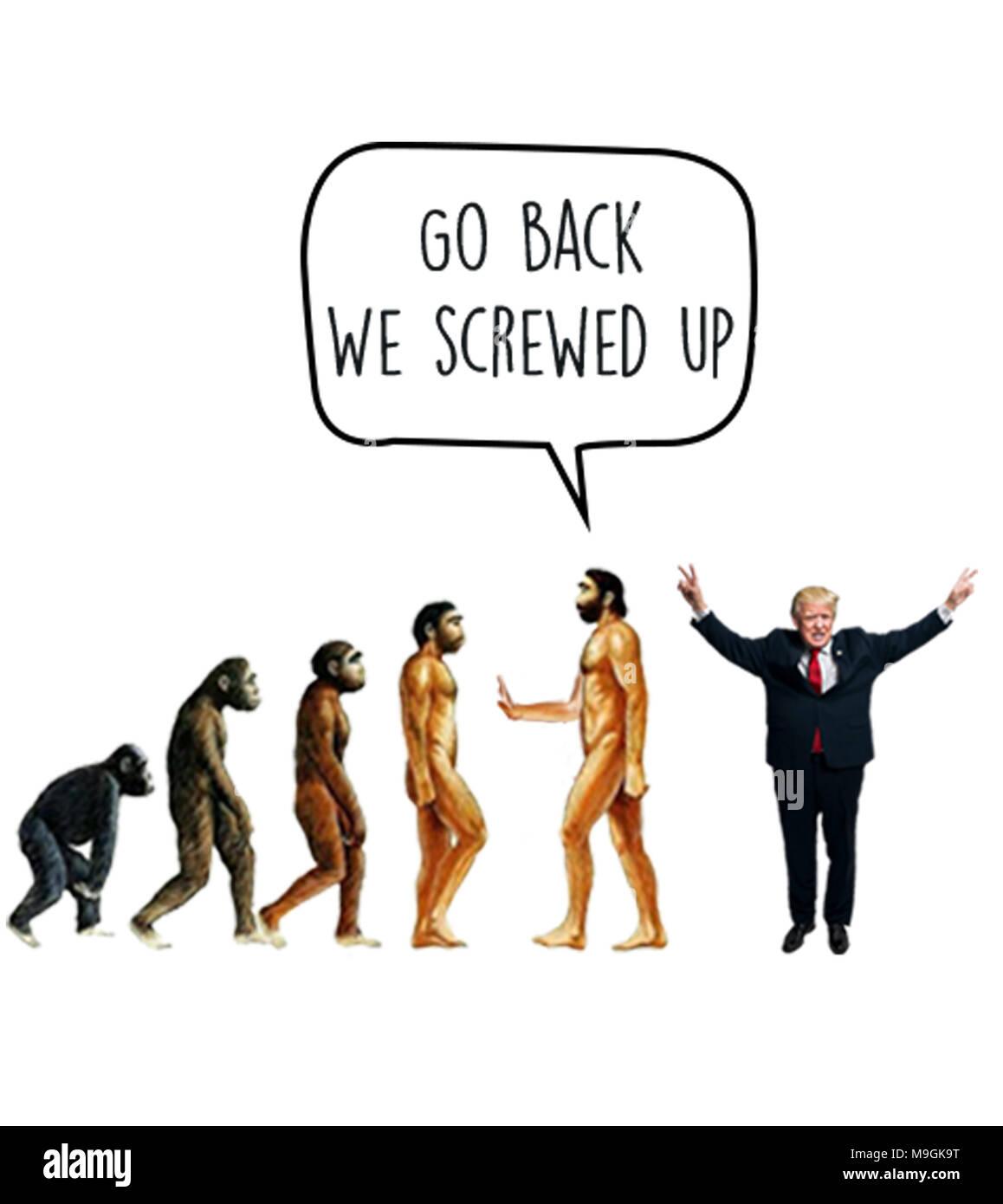 Go back We screwed up - Stock Image