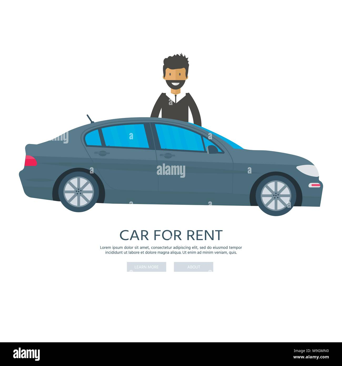 Banner For Sales Advertising House Cottage With Car And Man Offer Of Home Purchase Rental Of Real Estate Vector Flat Design Urban Landscape Stock Vector Image Art Alamy