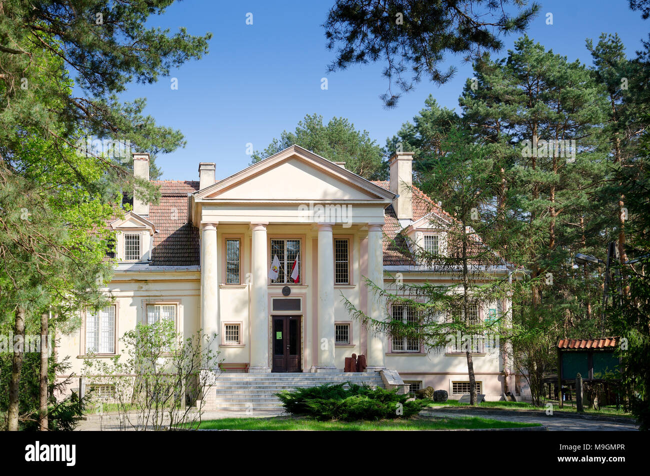 Museum of the Otwock region located in manor house stylized villa built in 1954 for Jakub Berman, prominent member of the Polish United Workers' Party - Stock Image