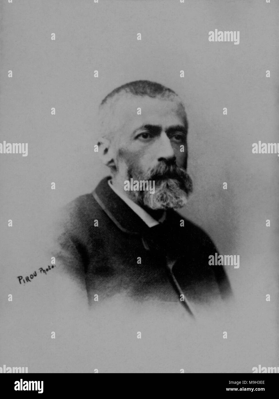 Portrait of the French painter Emile Adan ( 1839 - 1937 )  -  photography by    Eugene Pirou ( 1841 - 1909 ) - Stock Image