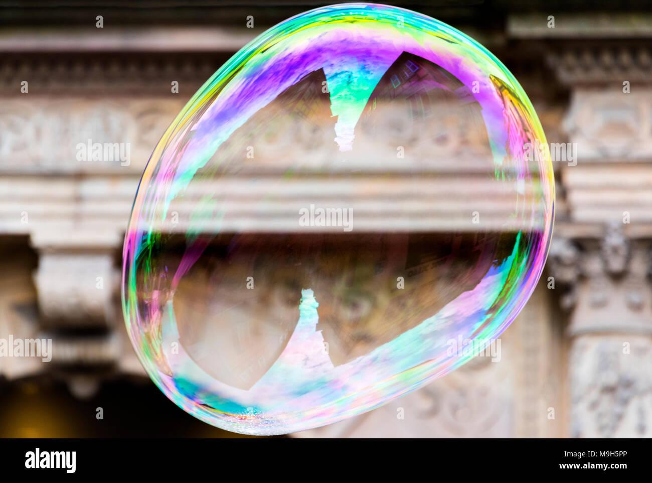 A soap bubble, Colmar, Alsatian Wine Route, France - Stock Image