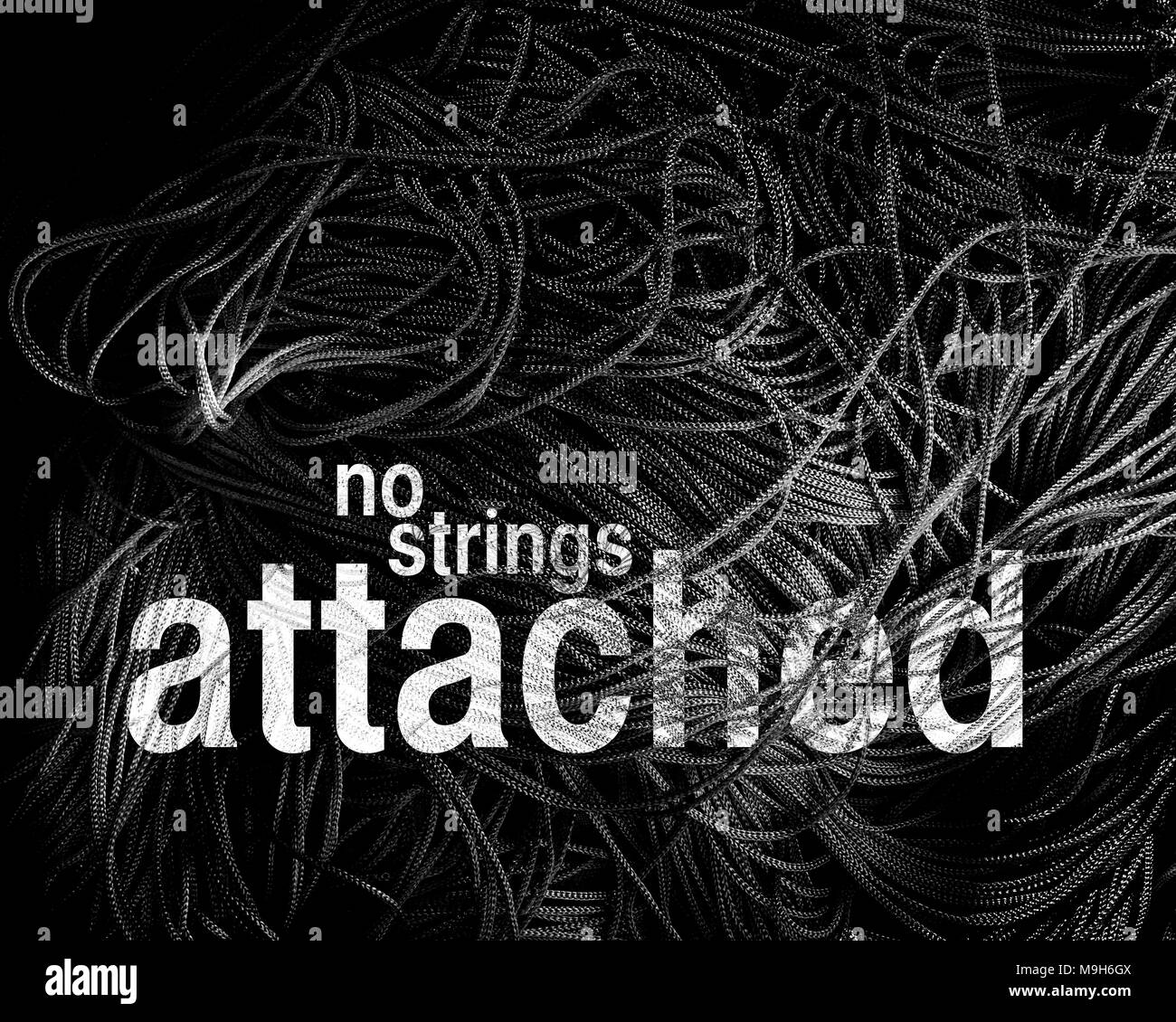 CONCEPT: No Strings Attached - Stock Image
