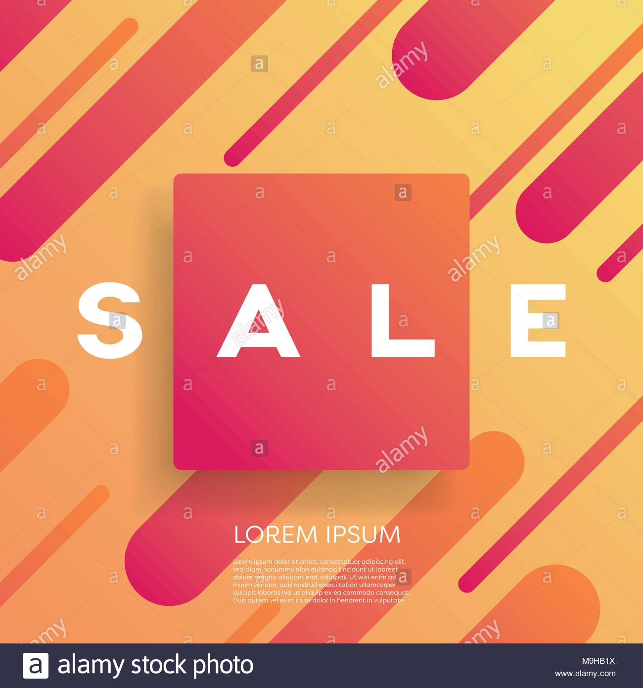sales poster or banner vector template with modern geometric shape