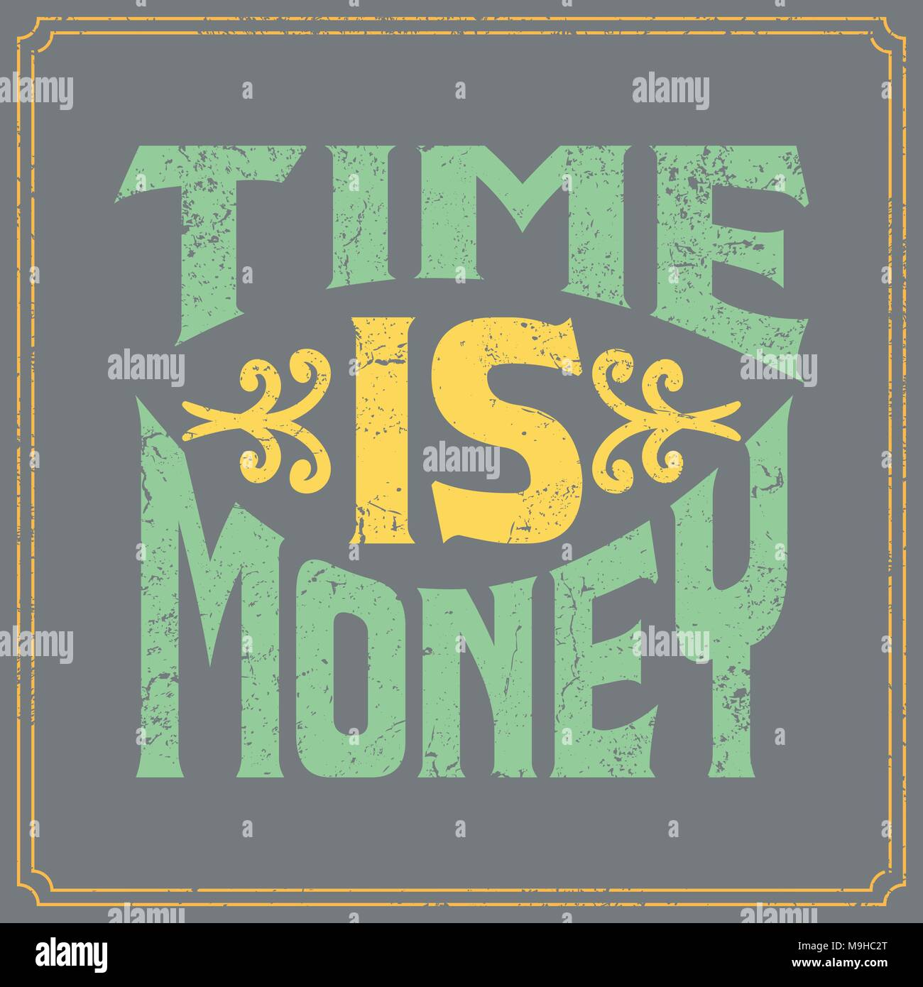 Typographic Designed English Sayings in Vintage Posters DesigncQuotations in Vector - Stock Image