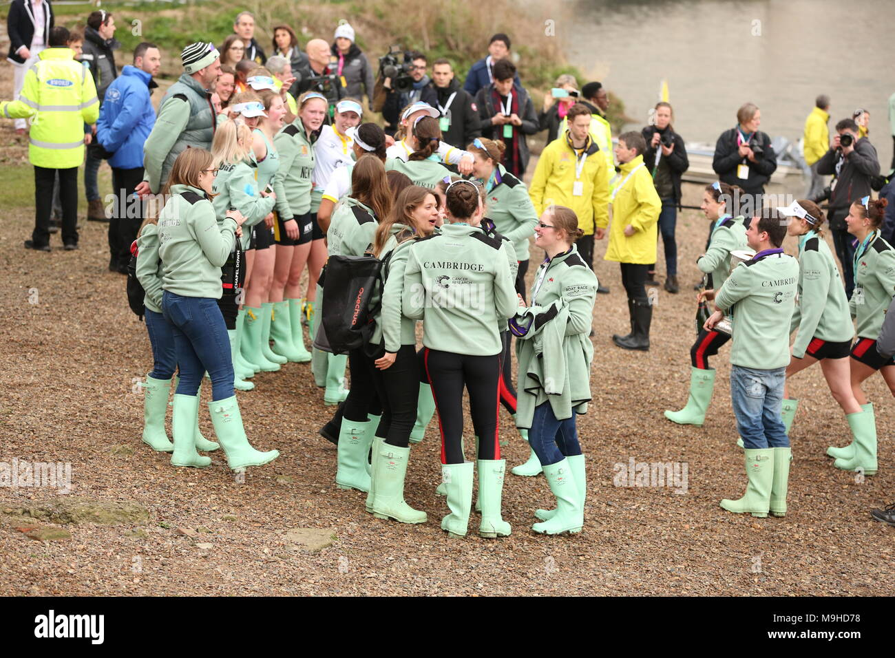 The cancer research Boat Race Sat 24 March 2018 - Stock Image