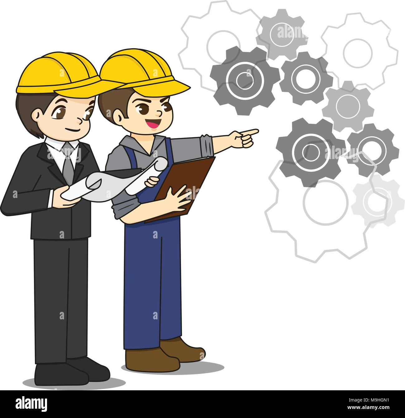 Professional engineer discuss about blueprint paper with foreman professional engineer discuss about blueprint paper with foreman malvernweather Images