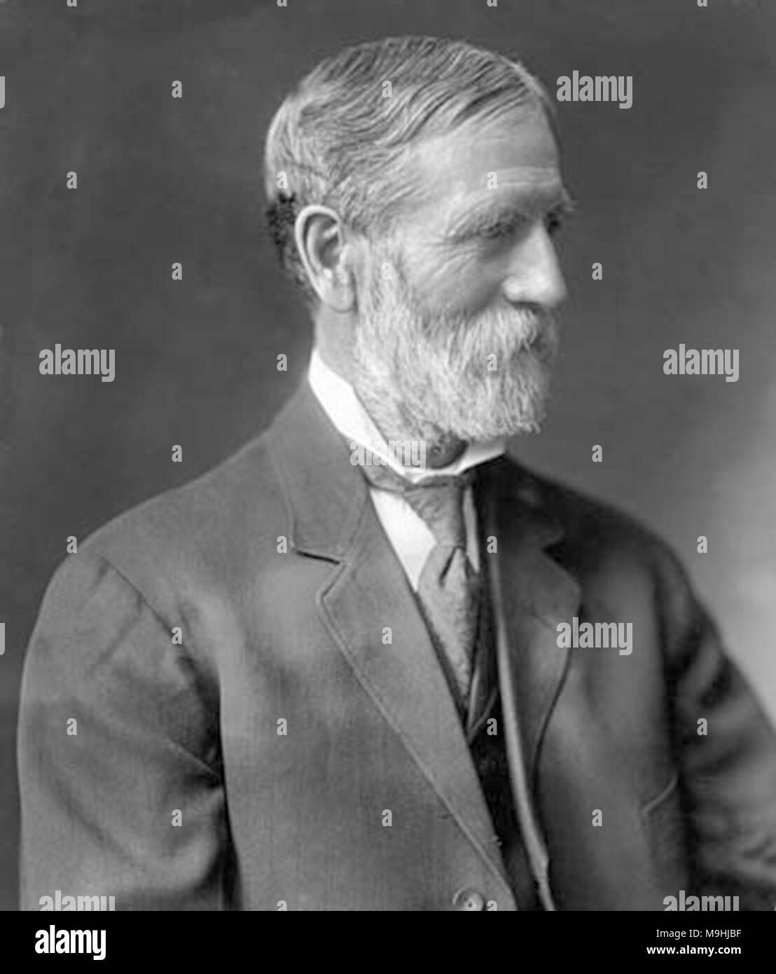 Freelan Oscar Stanley (1849 – 1940) American inventor, best remembered as the co-founder, along with his twin brother Francis Edgar Stanley, of the Stanley Motor Carriage Company which built steam-powered automobiles until 1920 - Stock Image