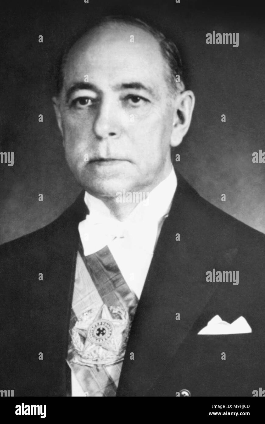 Nereu de Oliveira Ramos (1888 – 1958) Brazilian political figure. He briefly served as 20th President of Brazil - Stock Image