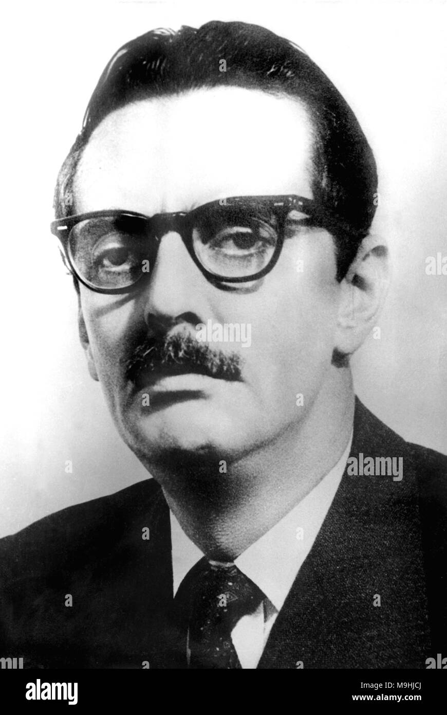 Jânio da Silva Quadros (1917 – 1992) Brazilian politician who served as 22nd President of Brazil from 31 January to 25 August 1961, when he resigned from office. - Stock Image