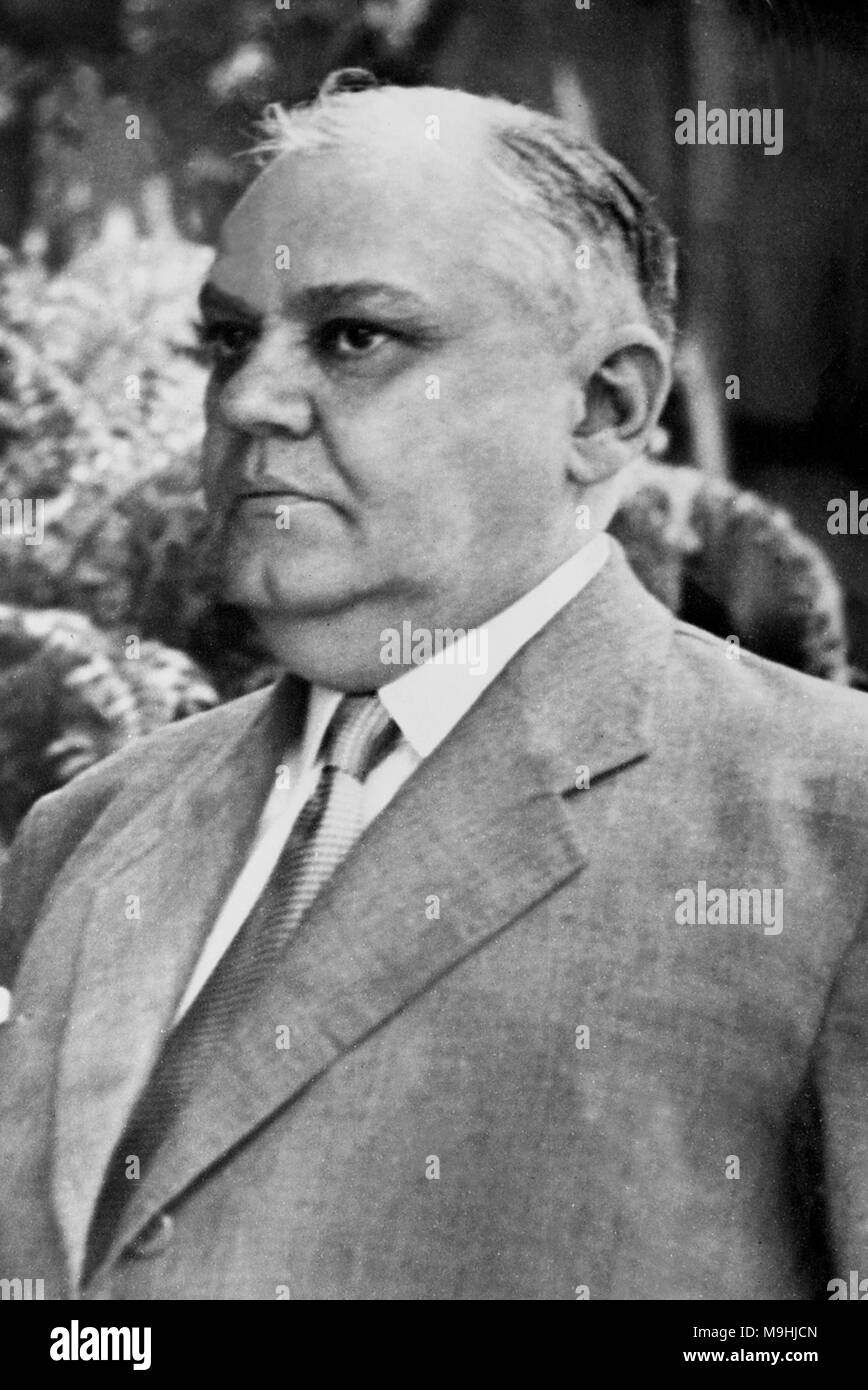 José Linhares, (1886 – 1957) 15th President of Brazil in the final days of the Vargas Regime. - Stock Image