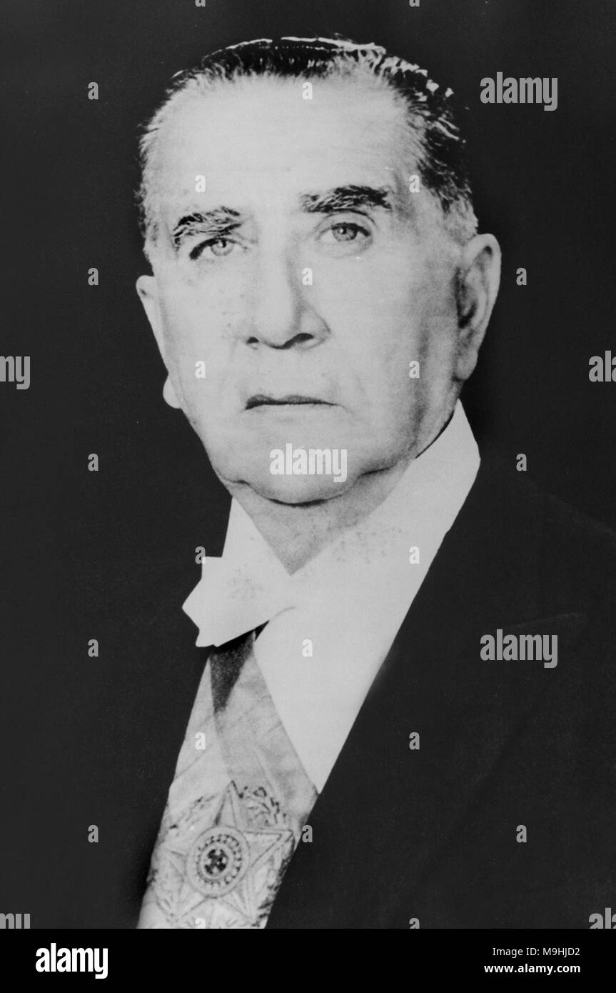 Emílio Garrastazu Médici, (1905 – 1985), Brazilian military leader and politician who was President of Brazil from 1969 to 1974. - Stock Image