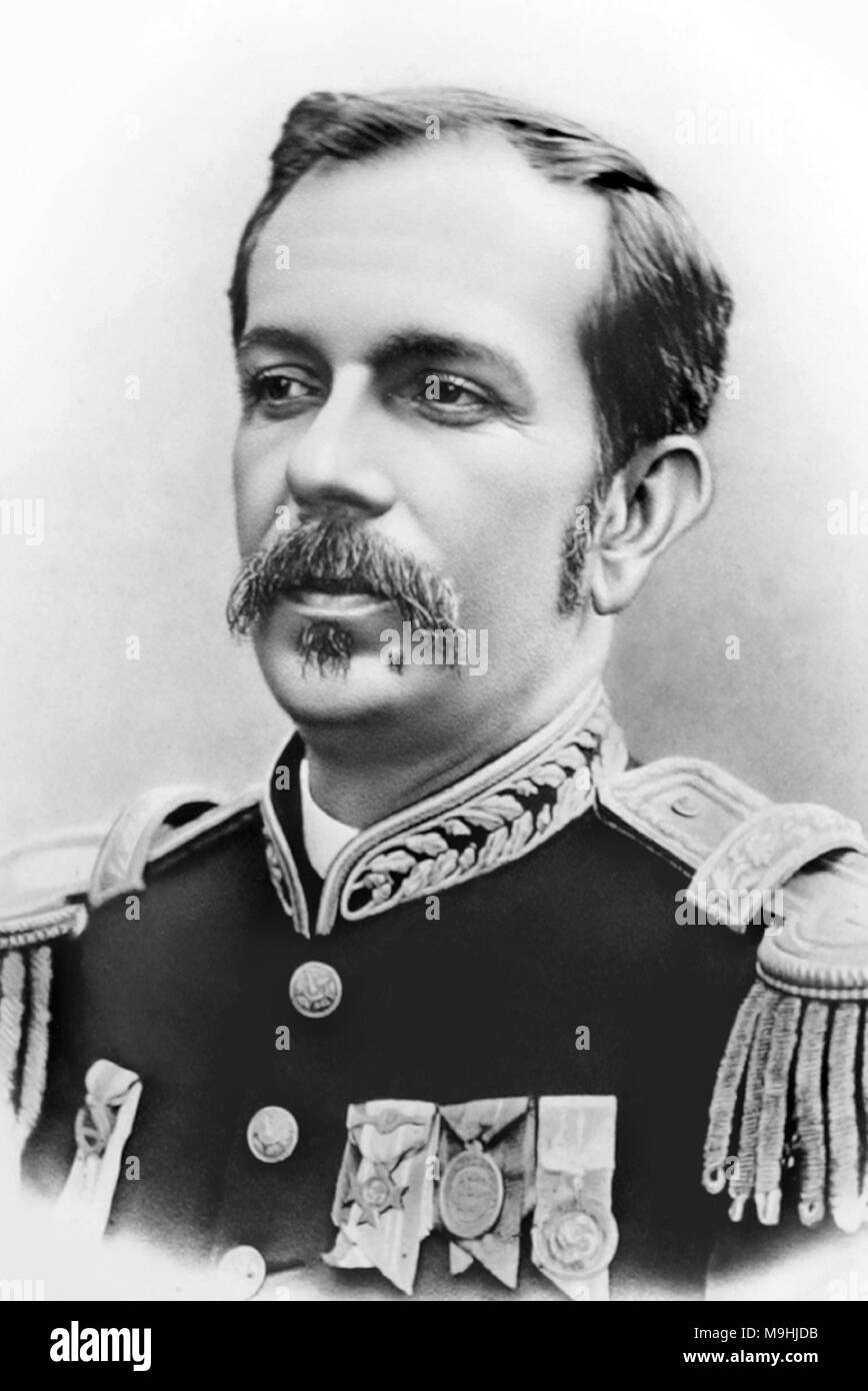 Floriano Vieira Peixoto (1839 – 1895), Brazilian politician and the second President of Brazil. - Stock Image
