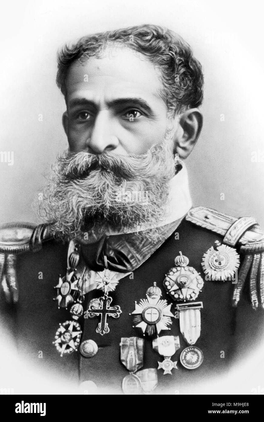 Manuel Deodoro da Fonseca (1827 – 1892) Brazilian politician and military officer who served as the first President of Brazil. - Stock Image