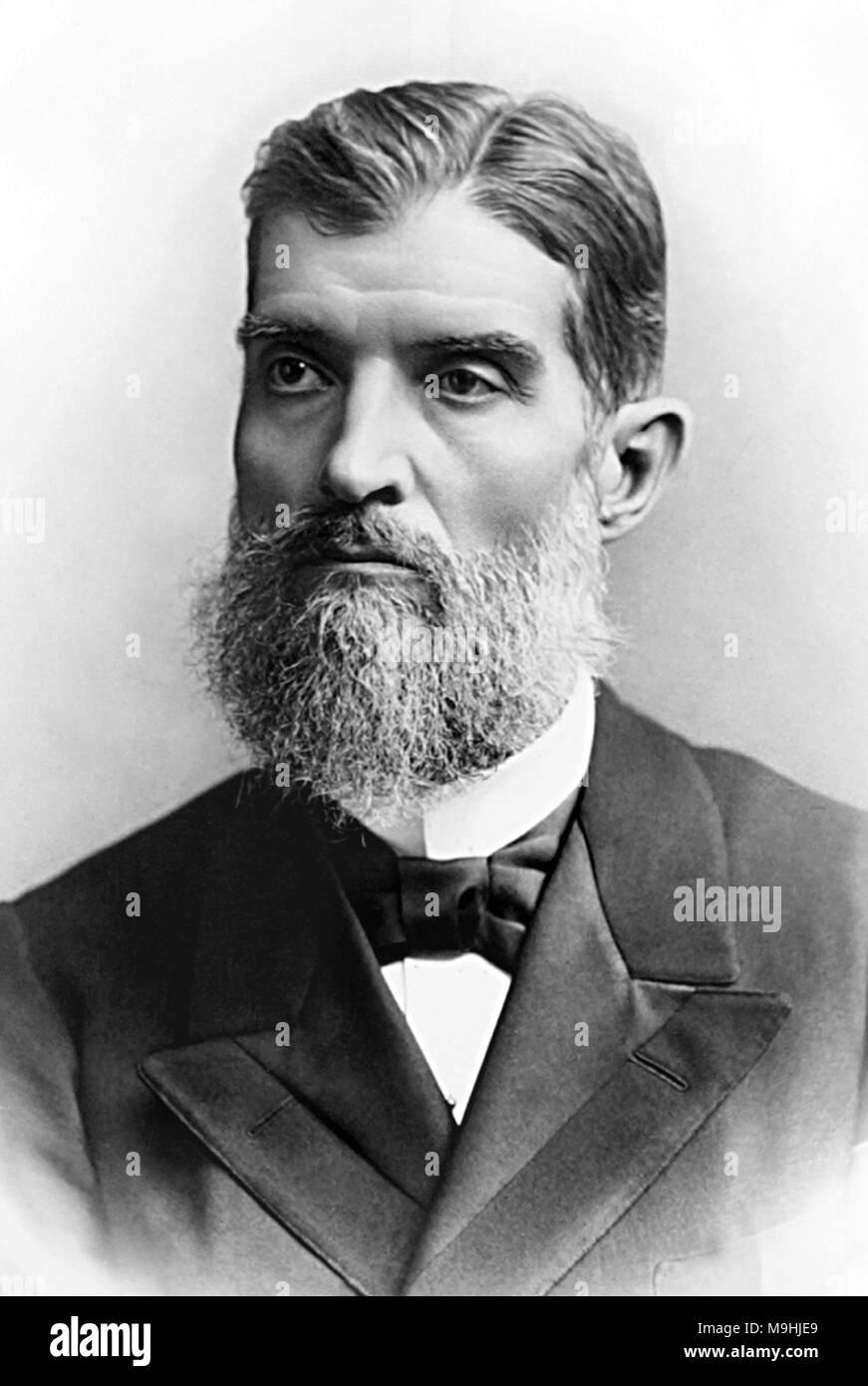 Prudente José de Morais e Barros (1841 – 1902) third President of Brazil. - Stock Image