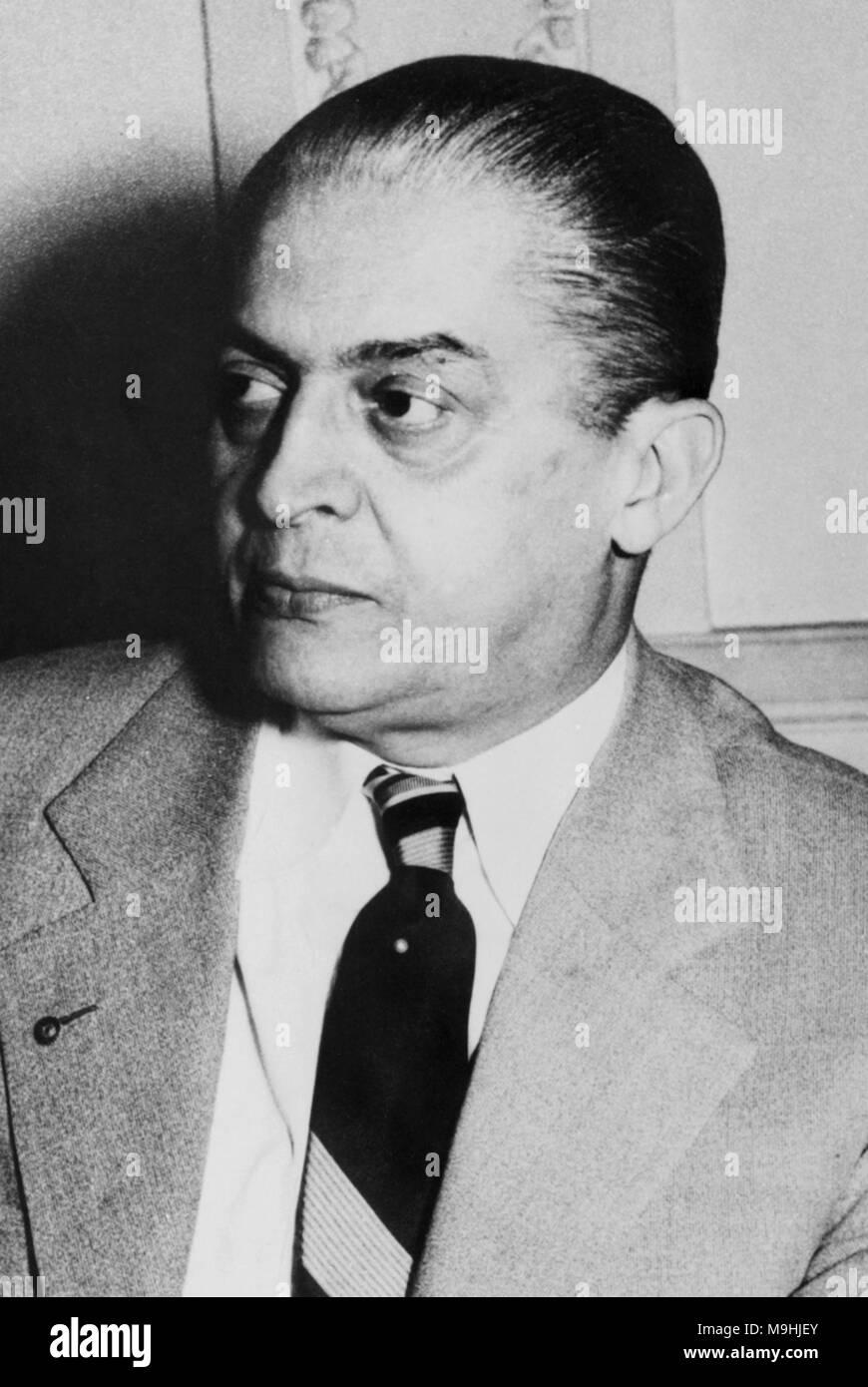 Carlos Coimbra da Luz (1894 – 1961) Brazilian politician. 19th President of Brazil - Stock Image