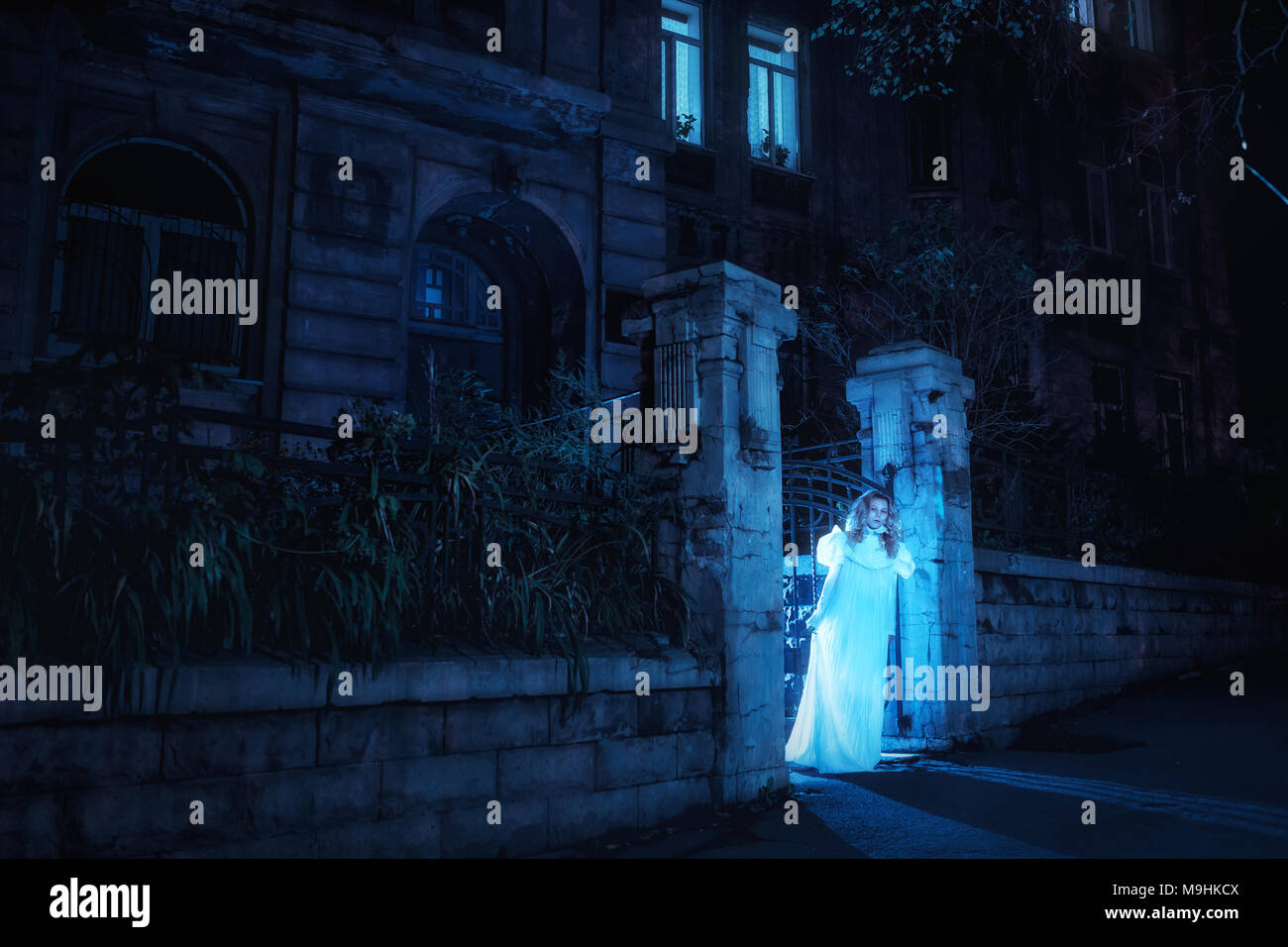 Ghost in night - Stock Image