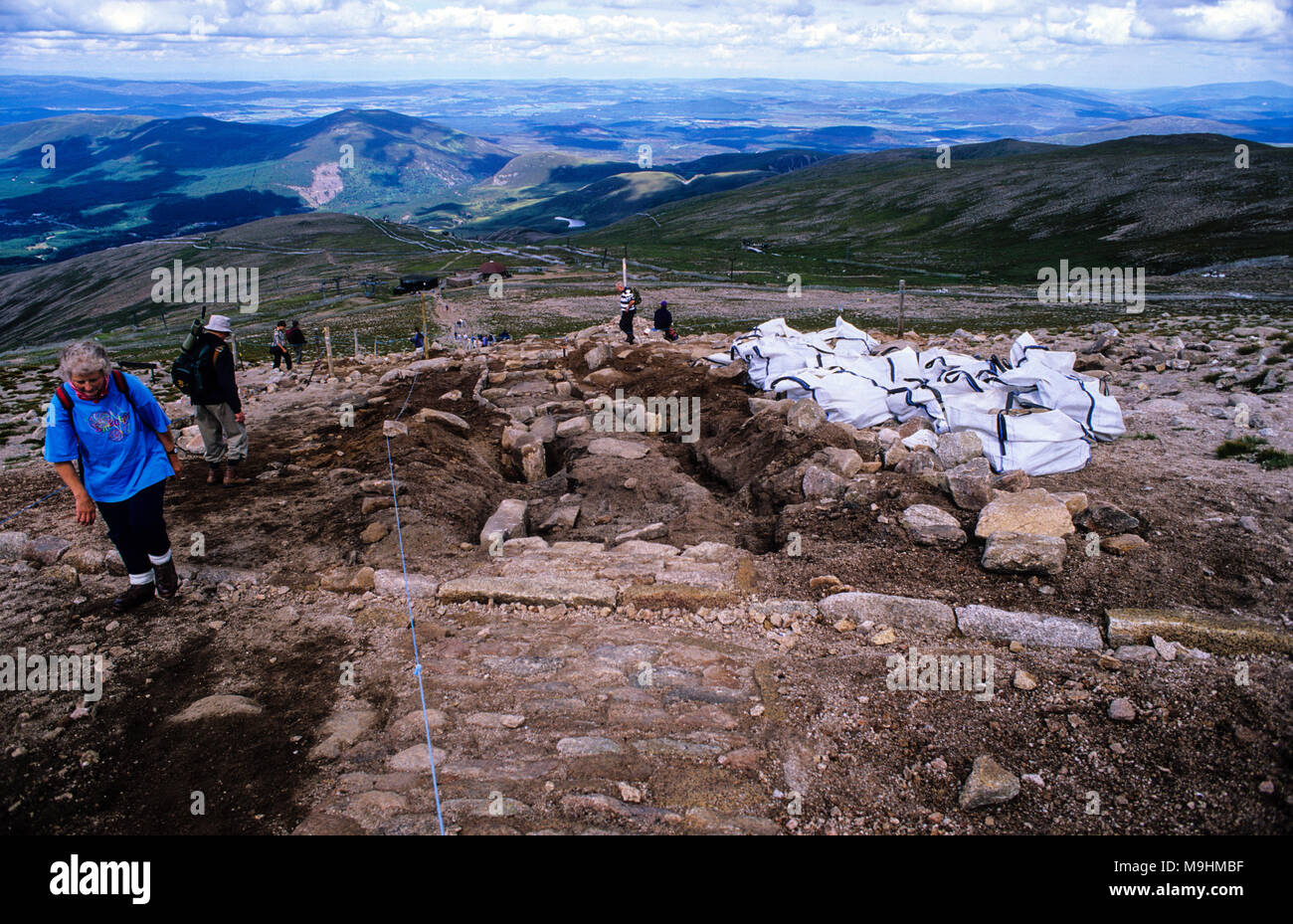 Path Maintenance, Cairngorm Mountain, Cairngorms, Highlands, Scotland, UK. - Stock Image